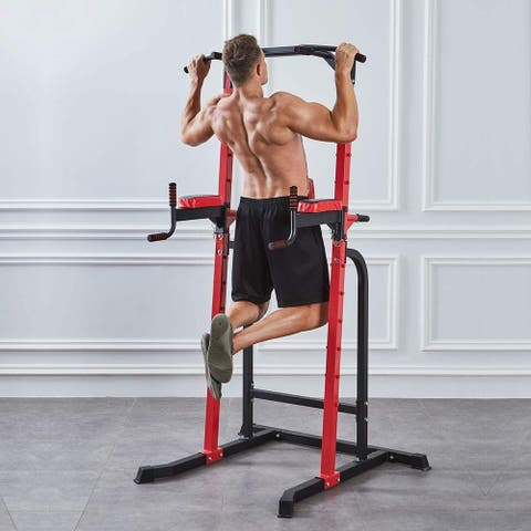 Zenova Weight capacity 550 lbs Power Tower Pull-up Bars Workout Dip Stands