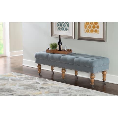 Copper Grove Pereiaslav 50-inch Tufted Blue Bench