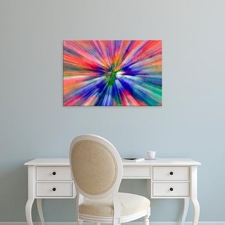 Easy Art Prints Jaynes Gallery's 'Zoom Abstract Of Pansy Flowers' Premium Canvas Art