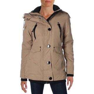 Noize Womens Borge Coat Faux Fur Hooded