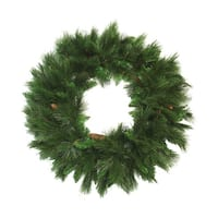 "48"" Mixed Long Needle Pine Artificial Christmas Wreath with Pine Cones - Unlit"