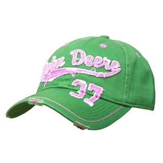 John Deere Western Hat Womens Vintage Raw Edge OS JD Green 23080368