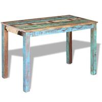 """vidaXL Dining Table Solid Reclaimed Wood 45.3""""x23.6""""x30"""" - multi-color"""