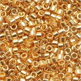 Miyuki Delica Seed Beads 11/0 '24K Gold Plated' DB031 7.2 Grams