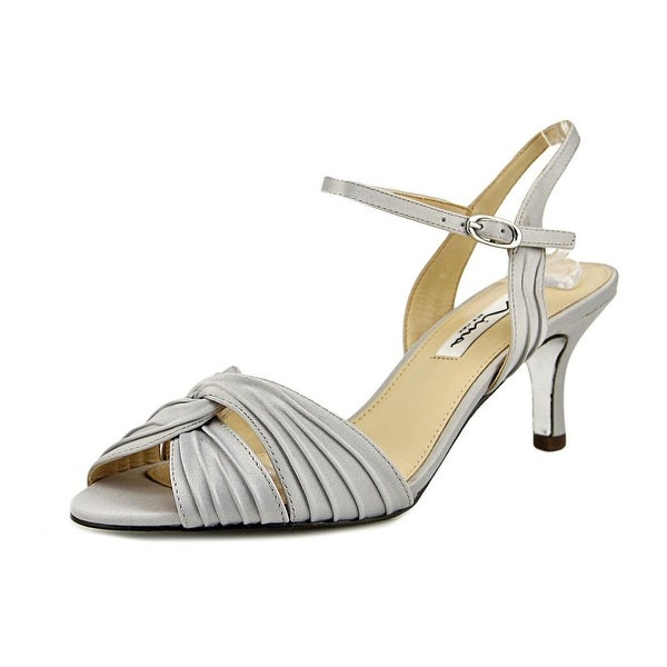 Nina Camille Women Silver Luster Pumps