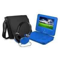 Ematic EPD707BU 7 in. Dvd Player Bundle Blue