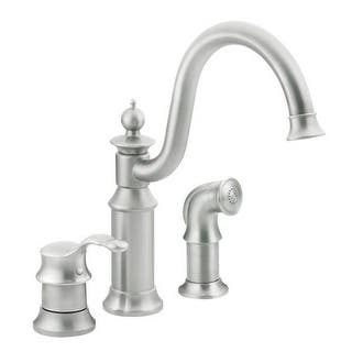 resistreg moen steel soap spot pull with one down resist view ca larger faucet bayhill faucets handle dispenser kitchen stainless