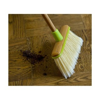 Full Circle - Clean Sweep angled broom with bamboo handle