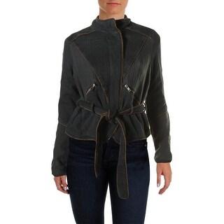 Free People Womens Anorak Jacket Twill Long Sleeves