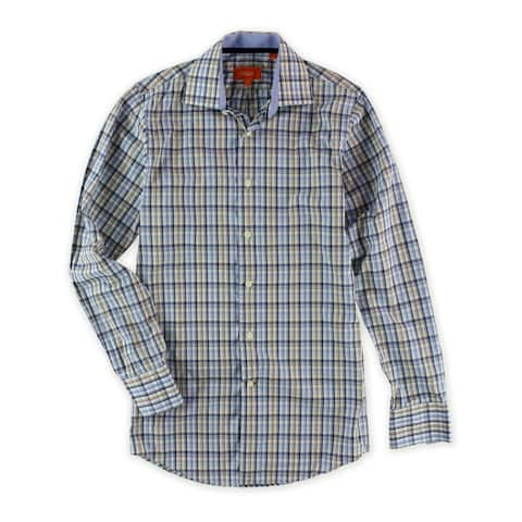 Tallia Mens Plaid Ls Button Up Shirt