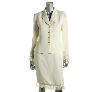 Tahari ASL Womens Queenie Silk Blend 2PC Skirt Suit - 12