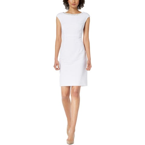 Connected Apparel Womens Cocktail Dress Embellished Special Occasion