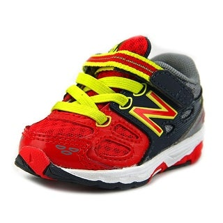 New Balance KR680 Infant W Round Toe Synthetic Gray Sneakers