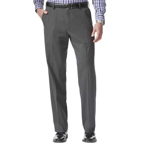 Dockers Men's Comfort Relaxed Fit Khaki Stretch Pants, Steelhead, 34x32