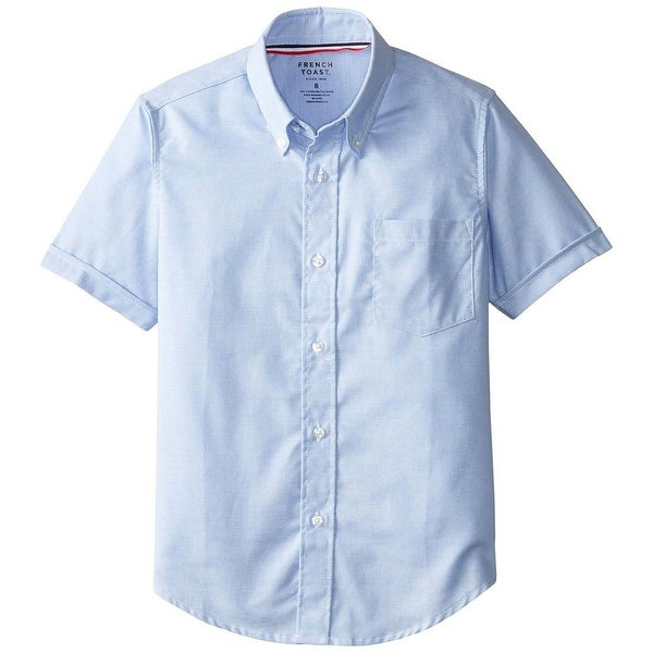 fd26667711df9 Shop French Toast Boys 4-7 Short Sleeve Oxford Shirt - Free Shipping ...