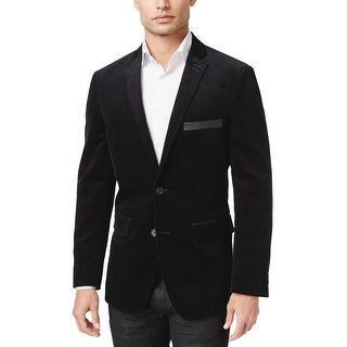 INC International Concepts Regular Fit Black Corduroy Sportcoat Blazer Medium M