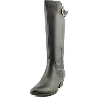 Bandolino Tadao Women Pointed Toe Leather Black Knee High Boot