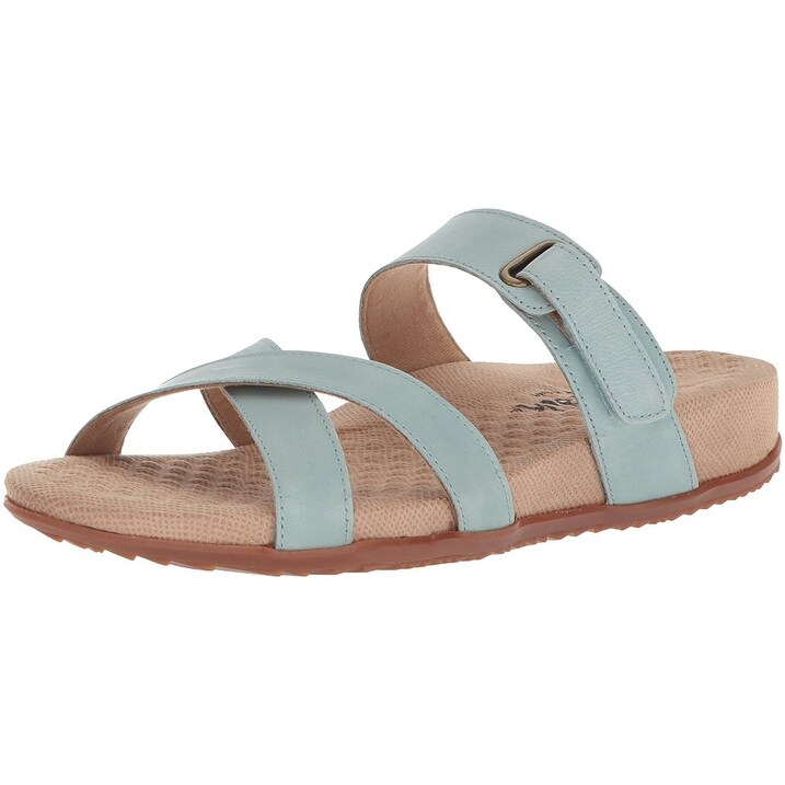 SoftWalk Womens Brimley Leather Open Toe Casual Sport Sandals