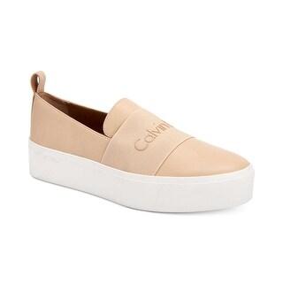 Calvin Klein Womens Jacinta Low Top Slip On Fashion Sneakers