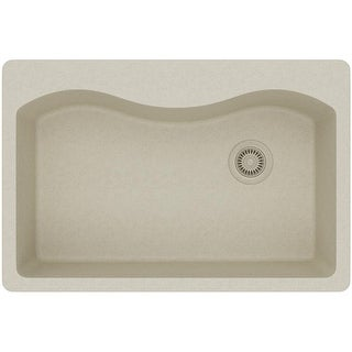 """Elkay ELGS3322R  Harmony 33"""" Single Basin Granite Composite Kitchen Sink for Drop In Installations with 5 Pre-Scored Faucet"""