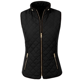 Link to NE PEOPLE Womens Lightweight Quilted Zip Vest (NEWJ40) Similar Items in Women's Outerwear