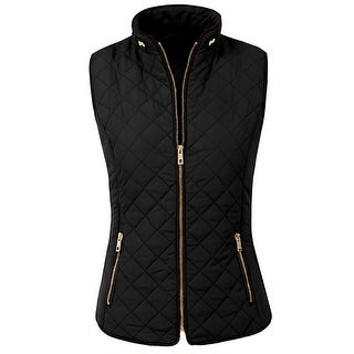 NE PEOPLE Womens Lightweight Quilted Zip Vest (NEWJ40) (More options available)