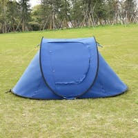 Costway Waterproof 2-3 Person Camping Tent Automatic Pop Up Quick Shelter Outdoor Hiking
