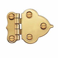 Hoosier Offset 3/8 Cabinet Hinge Pr Lifetime Finish Brass | Renovator's Supply