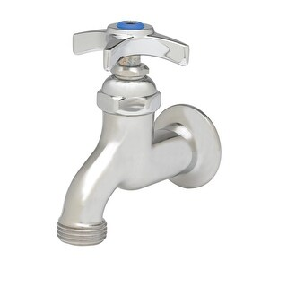 "T and S Brass B-0702 Sill Faucet with 1/2"" NPT Female Inlet, Cross Handle and 3/ - CHROME"