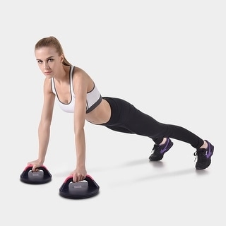 Goplus Push Up Stands Bar Rotating Non Slip Comfortable Wide Grips Equipment Set