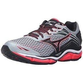 Mizuno Women's Wave Enigma 6-W Running Shoe, Quarry-Diva Pink-Black, 9 B US