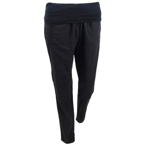 Pure DKNY Women's Roll-over Casual Pants - S