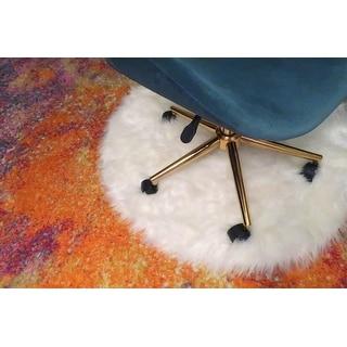 OVIOS Cute Desk Chair,Plush Velvet Office Chair for Home or Office Task Chair Adjustable Height