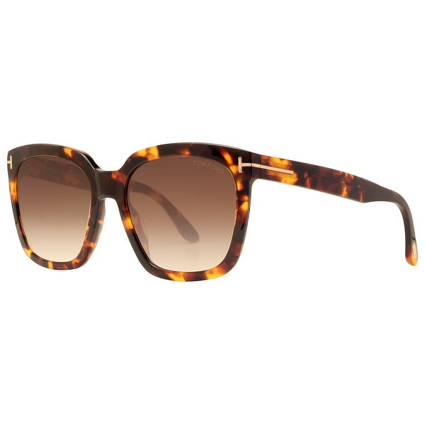 ae258af5e2 Tom Ford Amarra TF 502 52F 55mm Havana Brown Gradient Women  x27 s Square