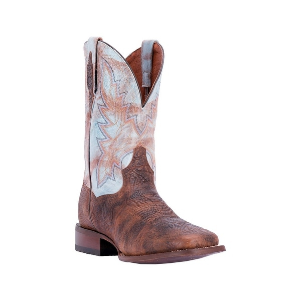 Dan Post Western Boots Mens Cartwright Bison Embroidered Brown