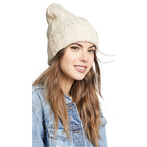 Free People Womens Cable Knit Beanie Hat - One Size