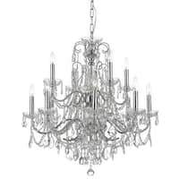 "Crystorama Lighting Group 3228-CL-I Imperial 12 Light 29-1/2"" Wide Chandelier wi"
