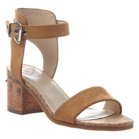 Madeline Women's Glow Block Heel Ankle Strap Sandal Rum Raisin Textile/Synthetic