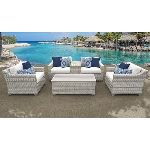 Fairmont 6 Piece Outdoor Wicker Patio Furniture Set 06d