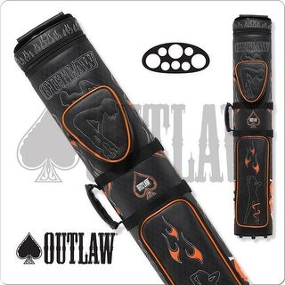 International Outlaw Stitch Flames 3 Butts & 5 Shafts Hard Cue Case