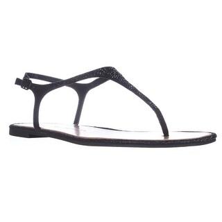 Chinese Laundry Glam Rock T-Strap Thong Flat Sandals, Black - 10 us / 41 eu