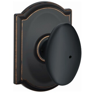 Schlage F40-SIE-CAM  Siena Privacy Door Knob Set with Decorative Camelot Trim