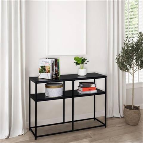 Industrial Style Console Table Double Black Oak Triamine Board