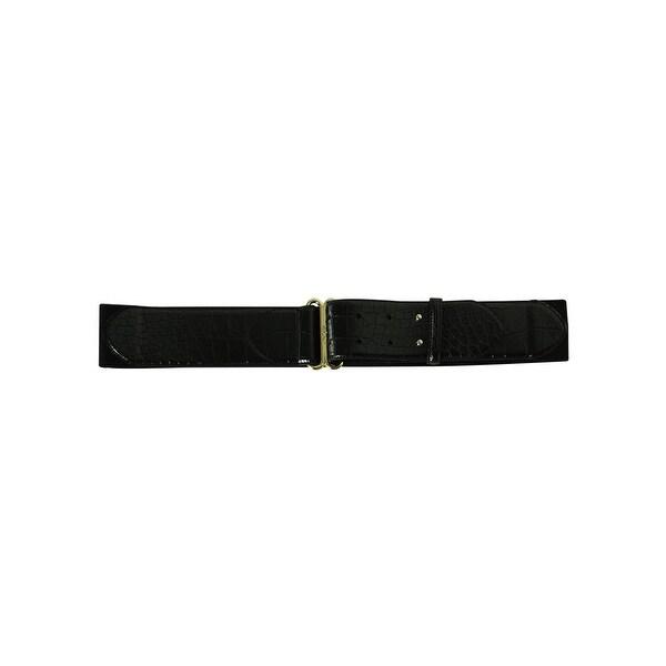 Lauren by Ralph Lauren Women's Solid Color Elastic Belt - Black - S