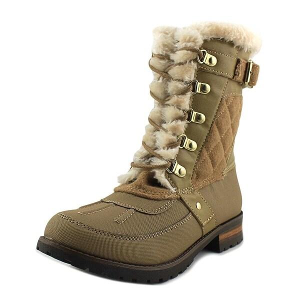 Rock & Candy Danlea Women Round Toe Canvas Tan Winter Boot