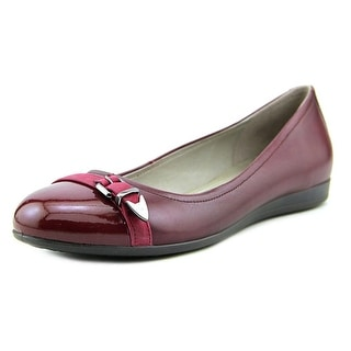 Ecco Touch 15 Women Round Toe Leather Red Flats