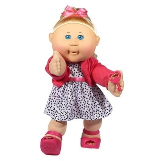 "Cabbage Patch Kids 14"" Plush Doll: Blonde Hair/Blue Eye Girl (Trendy)"