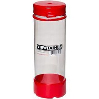 """Red - Viewtainer Tethered Cap Storage Container 2.75""""X8"""""""