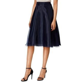 MSK Womens A-Line Skirt Organza High Waist