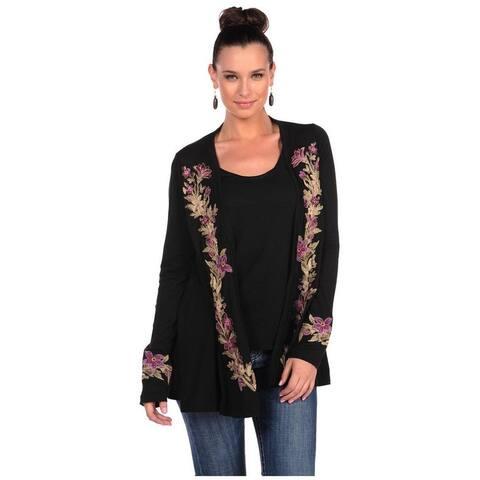 Stetson Western Sweater Womens Cardigan Black